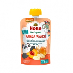 Panda Peach - PEACH, APRICOT, BANANA with SPELT Baby Food Pouch, Organic, HOLLE