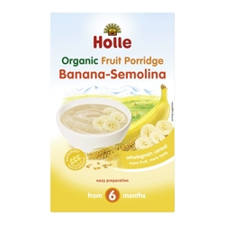 BANANA-SEMOLINA FRUIT Porridge, Organic, HOLLE