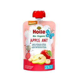 Apple Ant - APPLE with BANANA & PEAR Baby Food Pouch, Organic, HOLLE