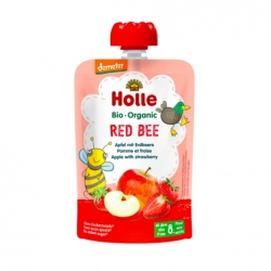 Red Bee - APPLE with STRAWBERRY Baby Food Pouch, Organic, HOLLE