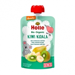 Kiwi Koala - PEAR & BANANA with KIWI Baby Food Pouch, Organic, HOLLE