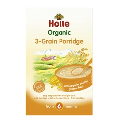 3-GRAIN Porridge, Organic, HOLLE