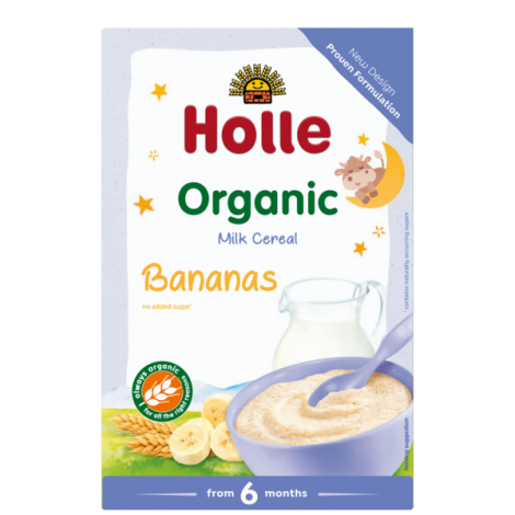 BANANA Milk Cereal, Organic, HOLLE