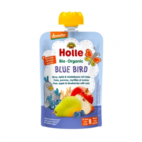 Blue Bird - PEAR, APPLE & BLUEBERRIES with OATS Baby Food Pouch, Organic, HOLLE